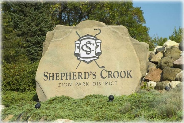 Welcome sign at Shepherd's Crook Golf Course