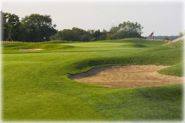 View of a sand trap on the course at Shepherd's Crook